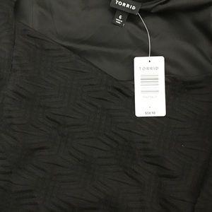 NWT size 6 Torrid black textured knit skater dress